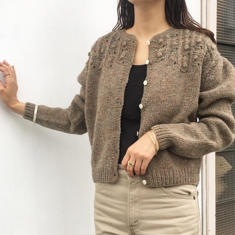 "USED "" Ralph Lauren Mixed yarn cardigan / ラルフ・ローレン ミックスヤーン カーディガン """