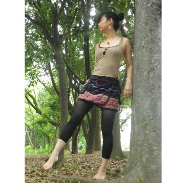 モン族ミニ巻スカート