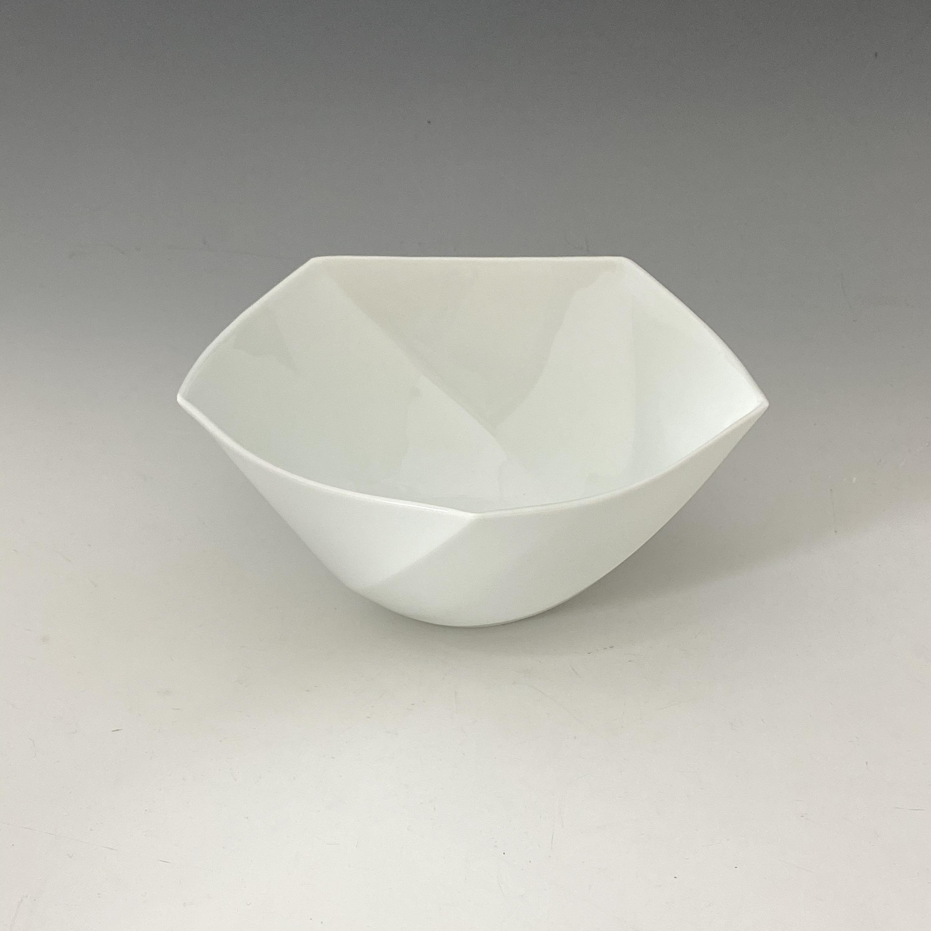 【中尾純】白磁五角鉢