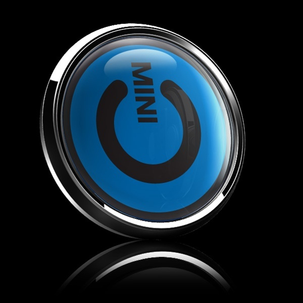ゴーバッジ(ドーム)(CD0387 - MINI POWER BLUE) - 画像2