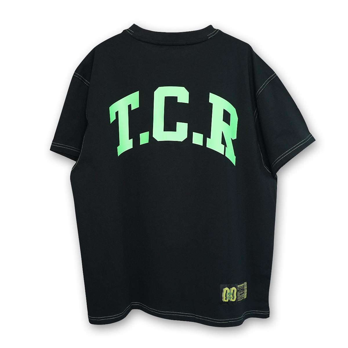 OVERSIZED TCR S/S TEE - BLACK/GREEN