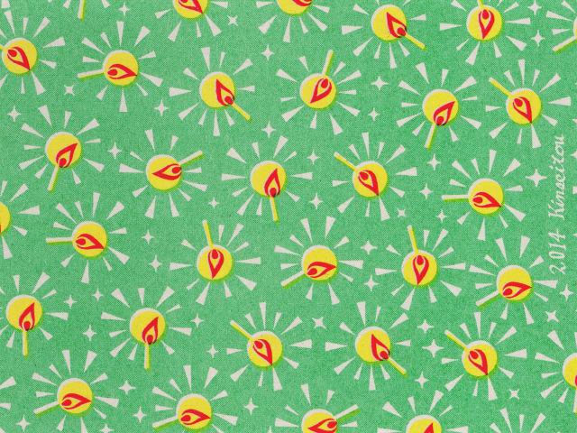 マッチ箱用ミニラッピングペーパー - マッチの灯 緑 - 金星灯百貨店