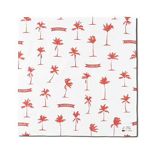 STANDARD CALIFORNIA #SD Palm Tree Bandana Fabric Designed by Jeff Canham White