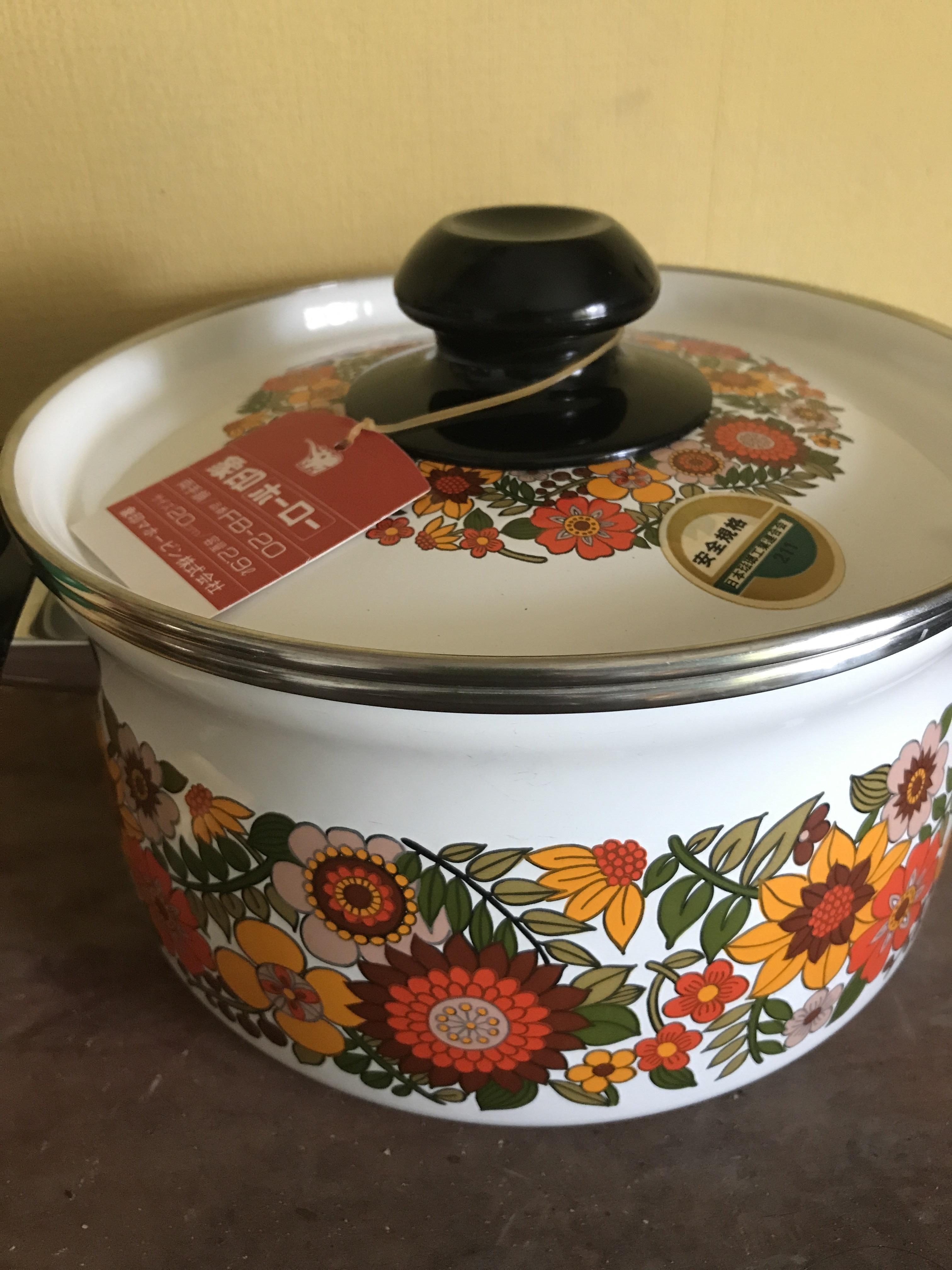 象印 レトロ 両手鍋