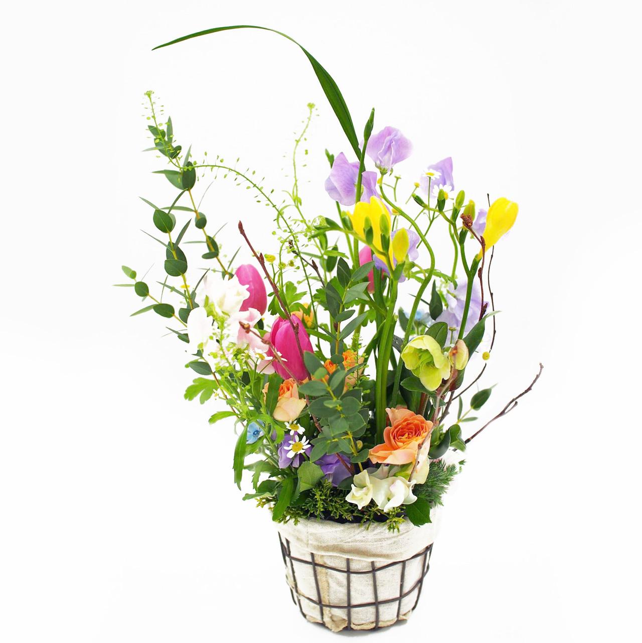 しろくま生花店オンライン花教室4 動画をみながらフラワーレッスンキット
