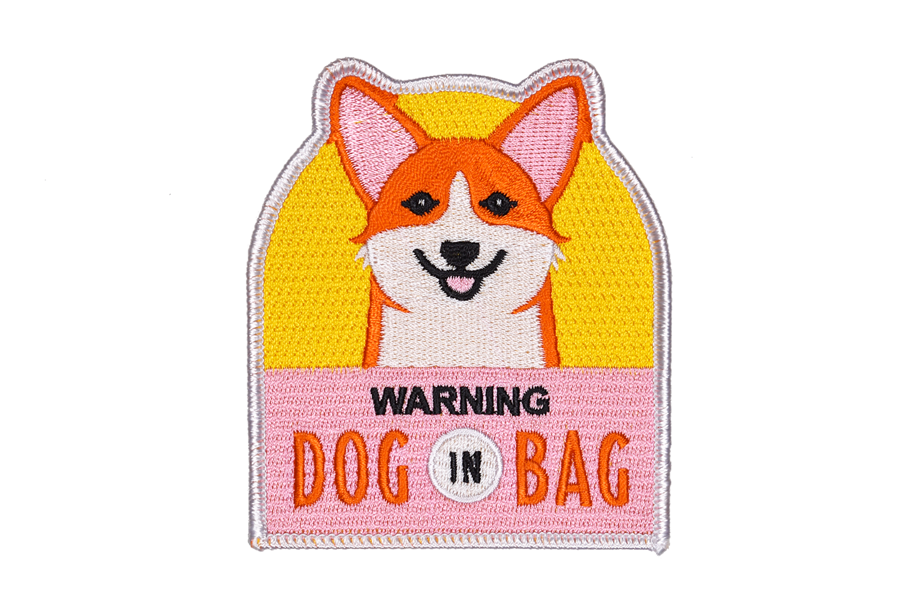WARNING DOG IN BAG Embroidered Patch