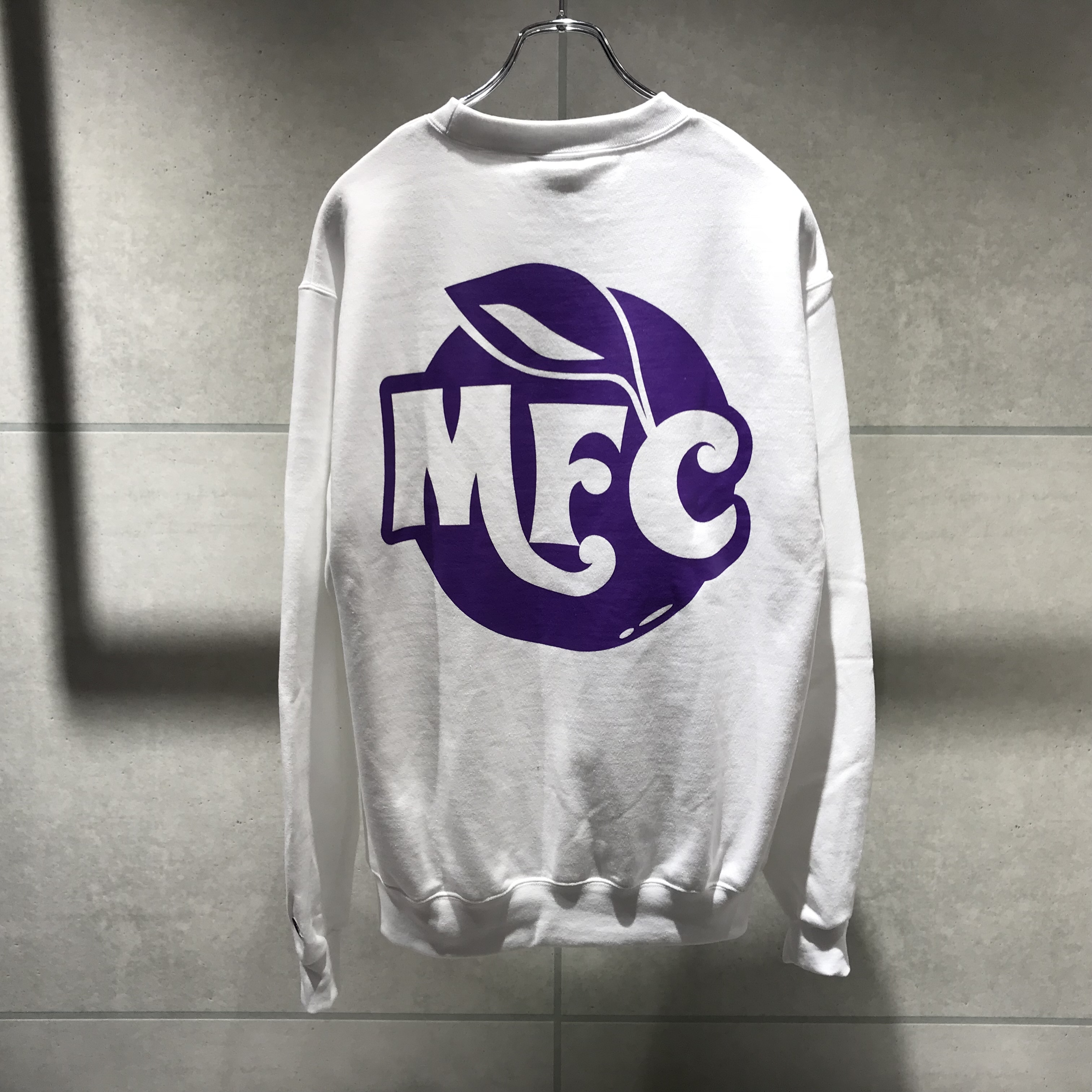 MFC STORE TYPE 8 CREWNECK SWEATSHIRT / WHITE x PURPLE
