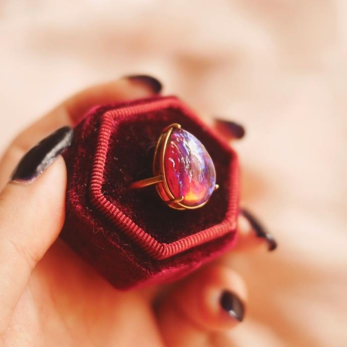 ドラゴンブレス涙型リング(指輪)