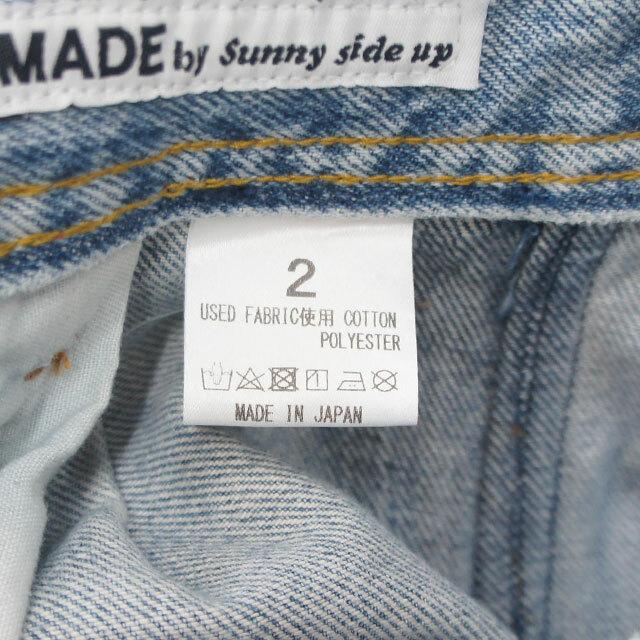 sunny side up サニーサイドアップ リメイクバックフロントバギーパンツ メンズ レディース パンツ デニム リメイク 古着 通販 (品番sr-188-003)