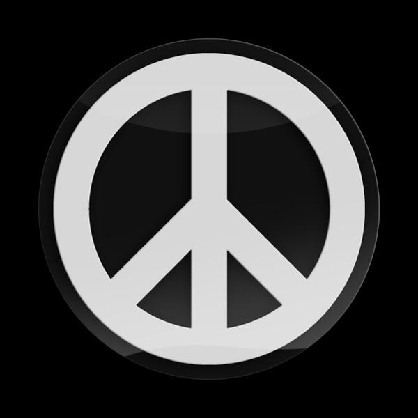 ゴーバッジ(3D)(LC0047 - 3D PEACE WHITE) - 画像1
