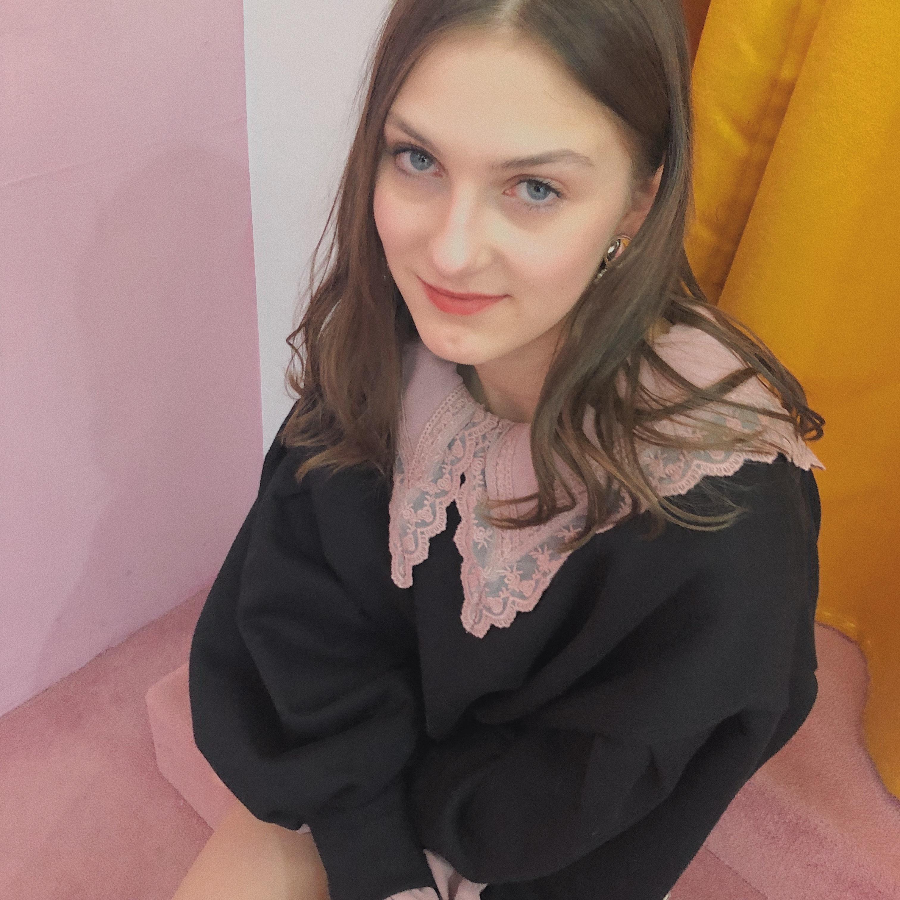 ♡cutie collar blouse (pink)