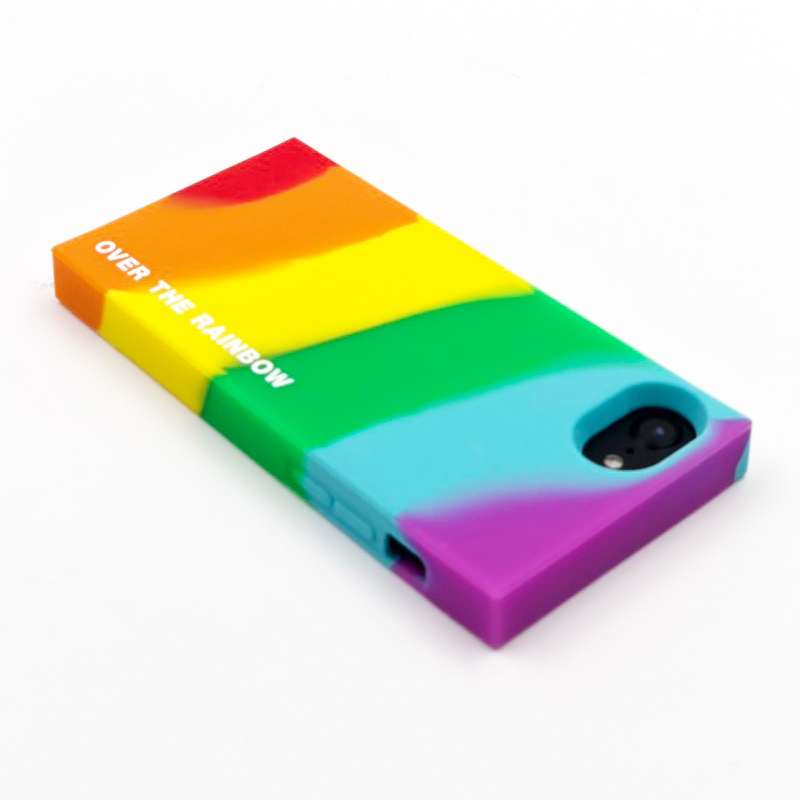 "RAINBOW SIMPLE CASE ""OVER THE RAINBOW"" for iPhone8/7/6s/6"