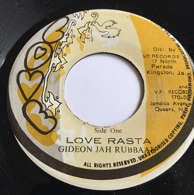 Gideon Jah Rubbaal (ギディオンジャーラバール) - Love Rasta【7'】