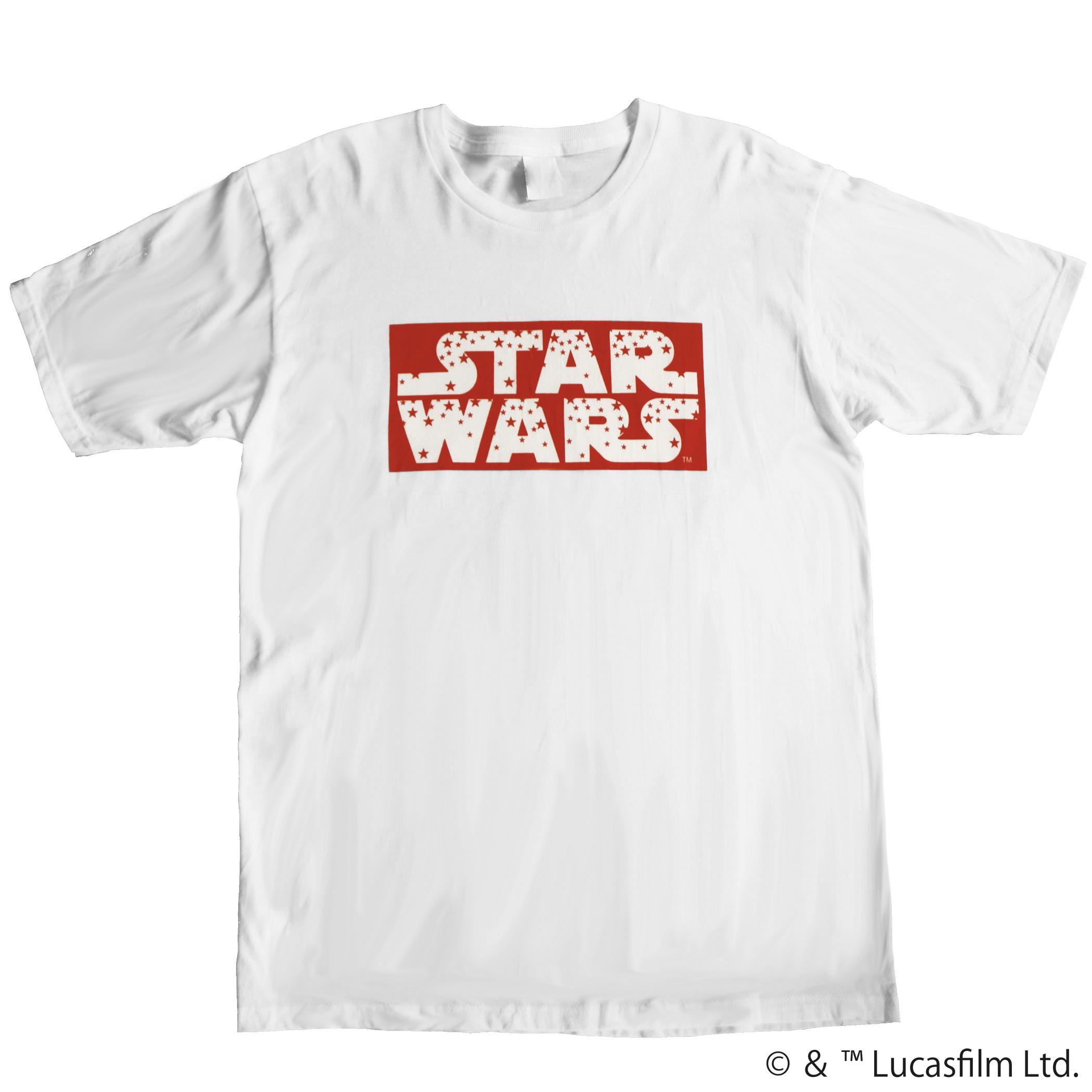 【スター・ウォーズ】STAR WARSロゴ レッドスター Tシャツ