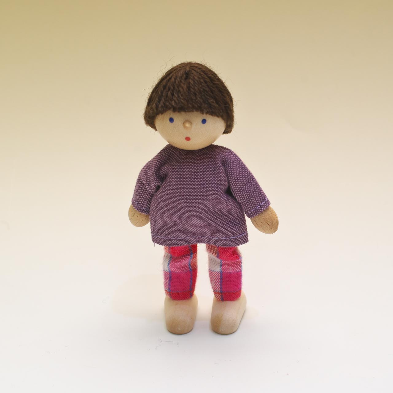 ヘアヴィック社製人形 男の子 紫シャツ