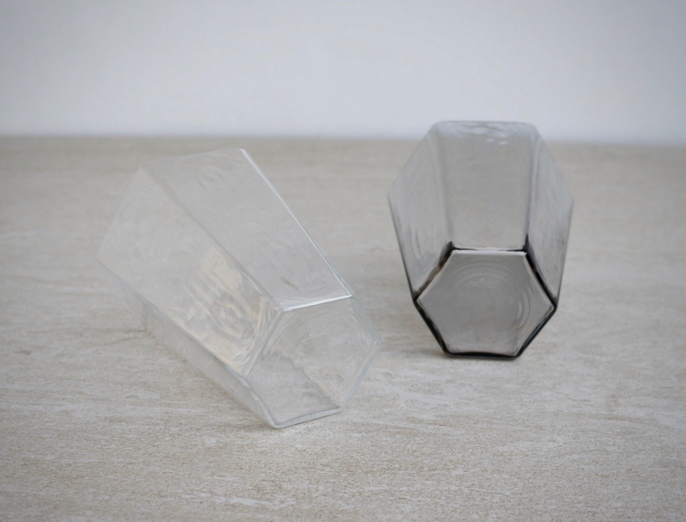 小林裕之・希/6角グラス・グレー