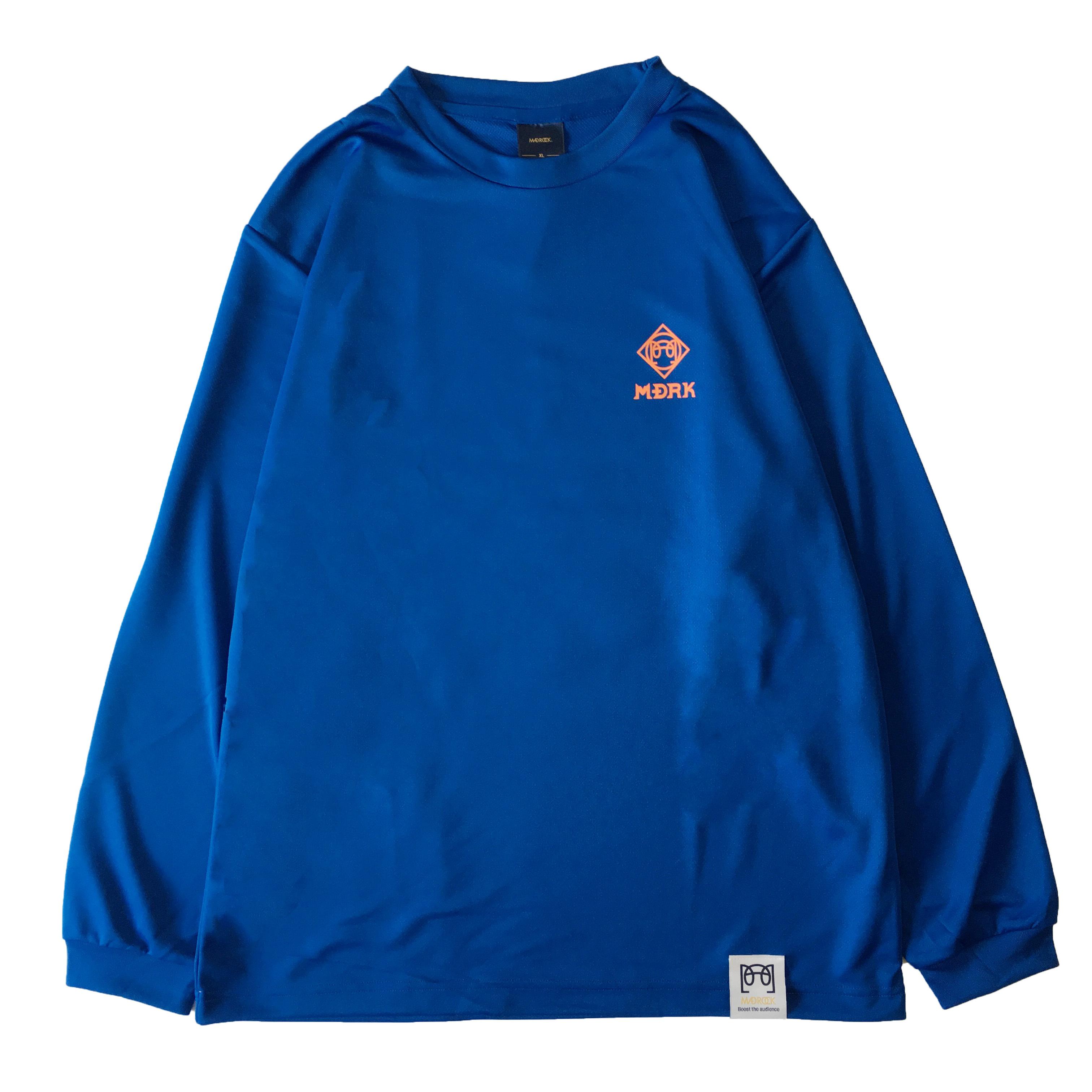 マッドロック / CAGE ロゴ ロンT / ドライタイプ / ブルー