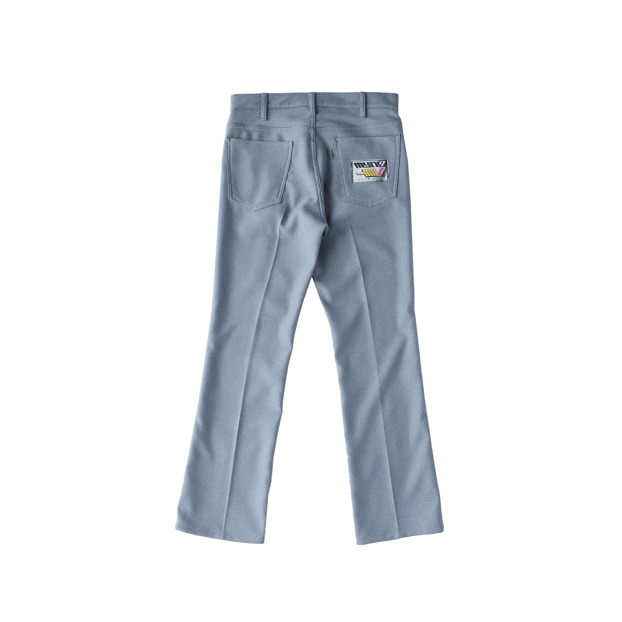 Wappen boot-cut pants / BLUE - 画像2
