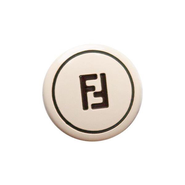 【VINTAGE FENDI BUTTON】フェンディ クラシック ベージュ ボタン