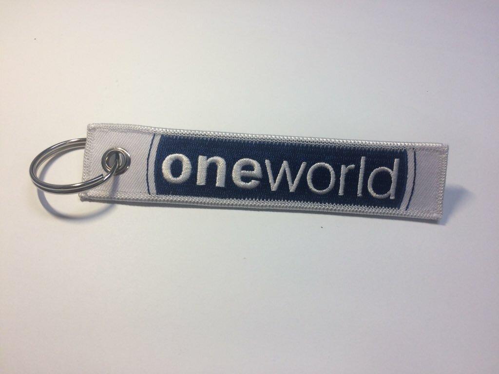 RemoveBeforeFlightキーホルダー oneworld