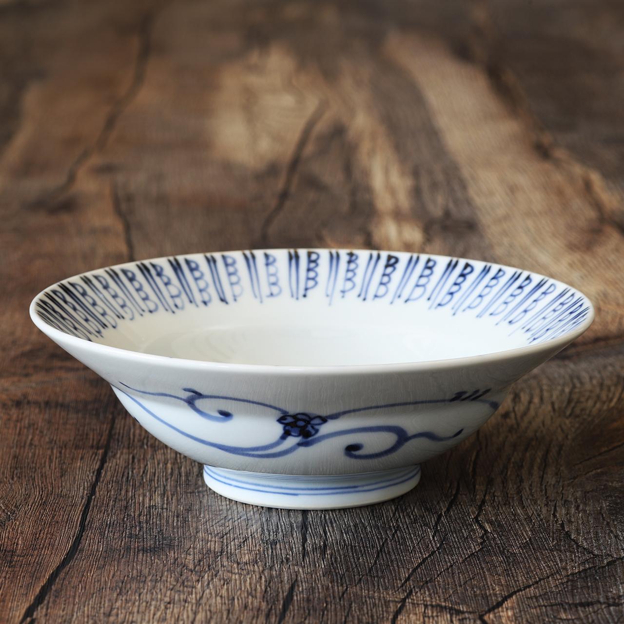 古代唐草 5寸兜深鉢 作:井手國博・与志郎窯(有田焼)