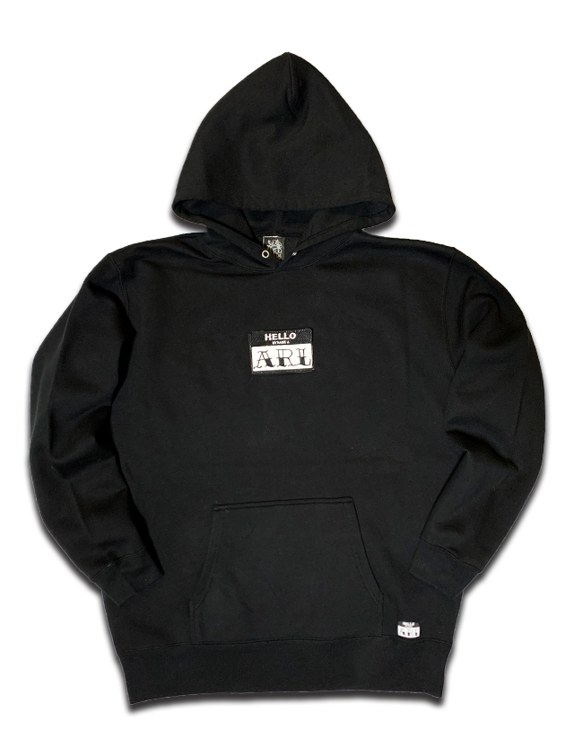 LOGO PATCH MAGIC HOODIE black