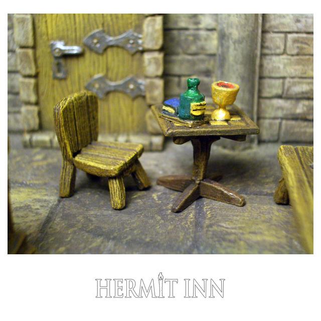 角テーブルと椅子(飲み物つき) - 画像1