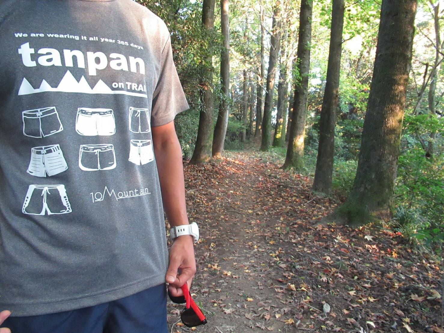 Tシャツ tanpan on TRAIL グレー