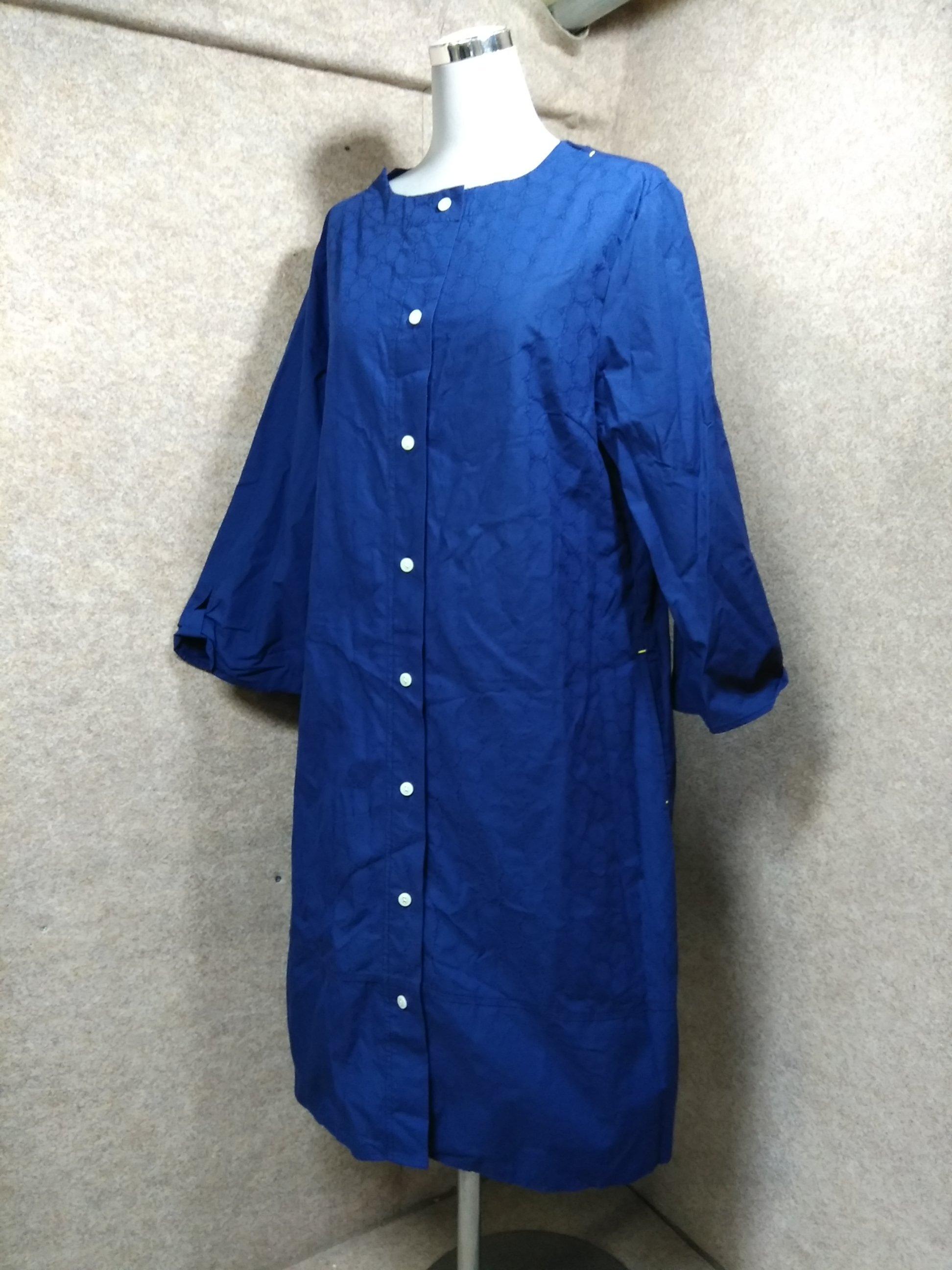 ゴールデンベア シャツワンピース L ネイビー 袖変わりデザイン y1290a
