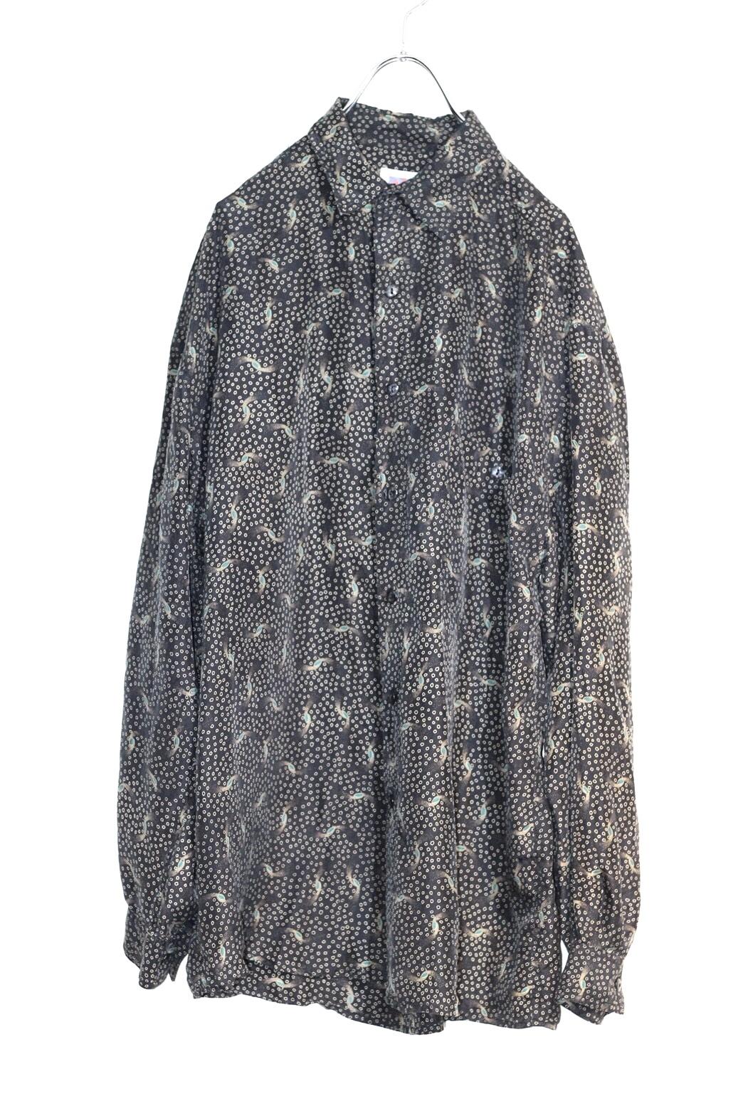 silk  pattern shirt