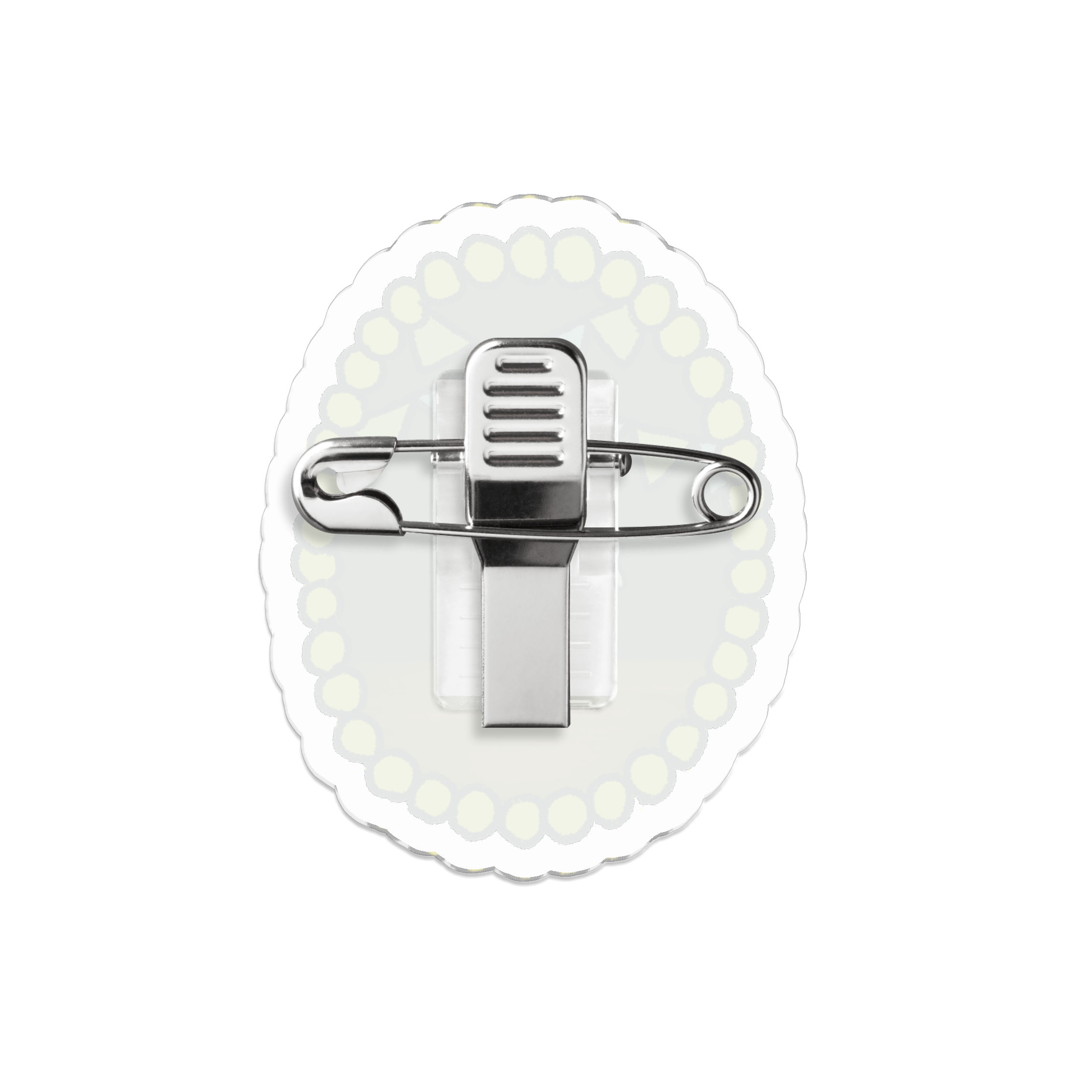 アクリルバッジ|サーカスブローチ(火の輪くぐり)