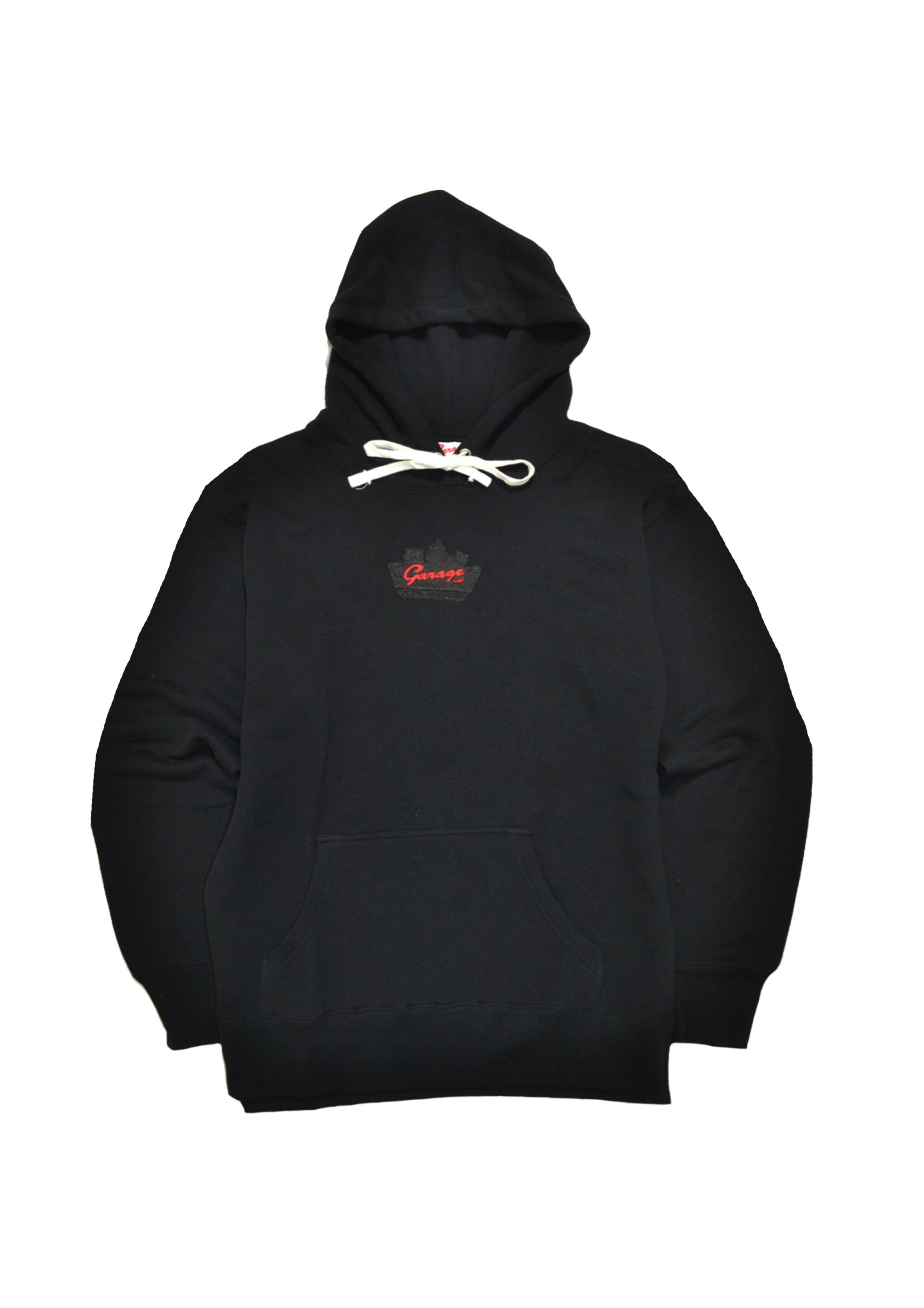 Silhouette logo hoodie Black