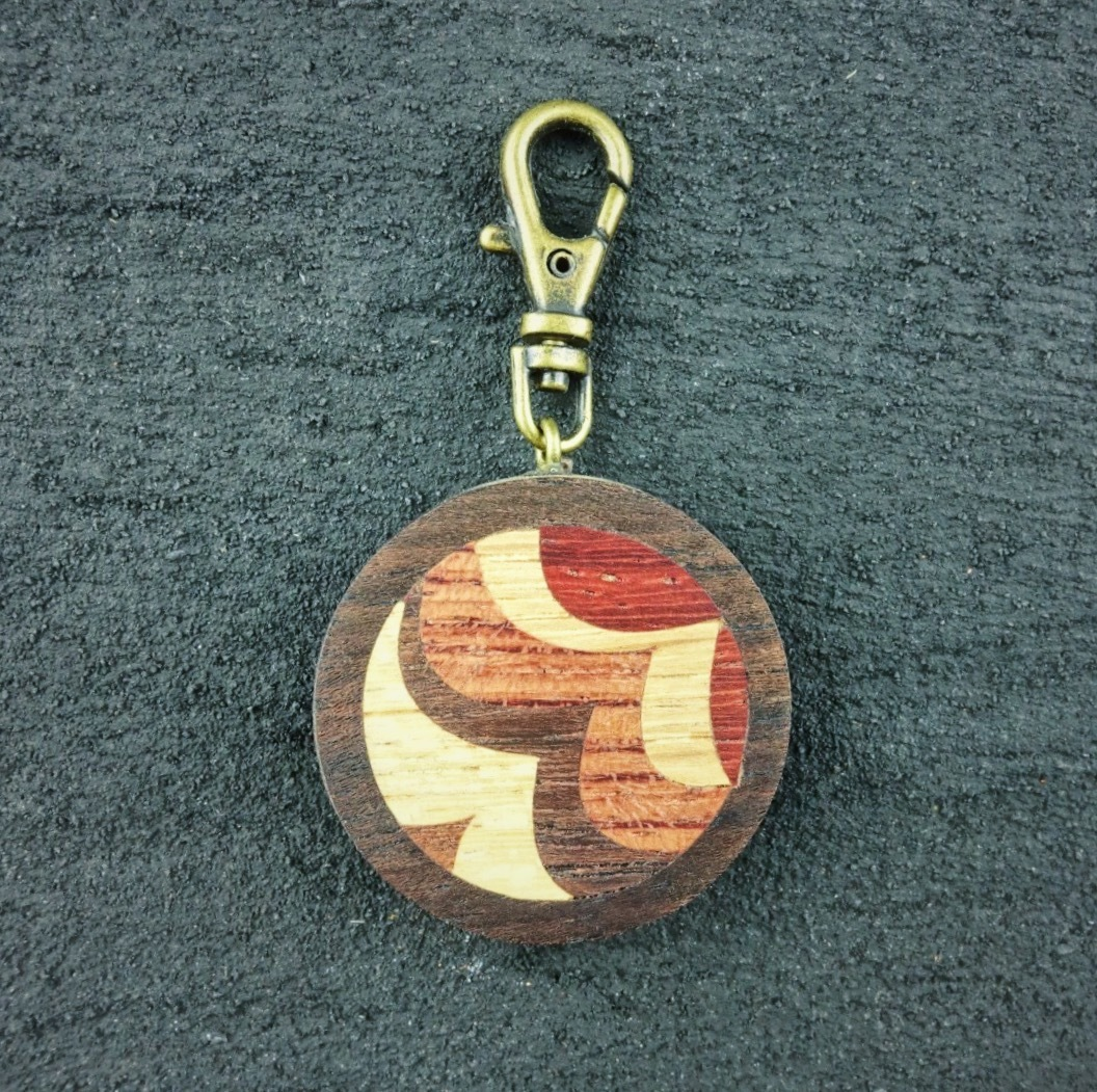 wooden inlaid charm IH-014-EB