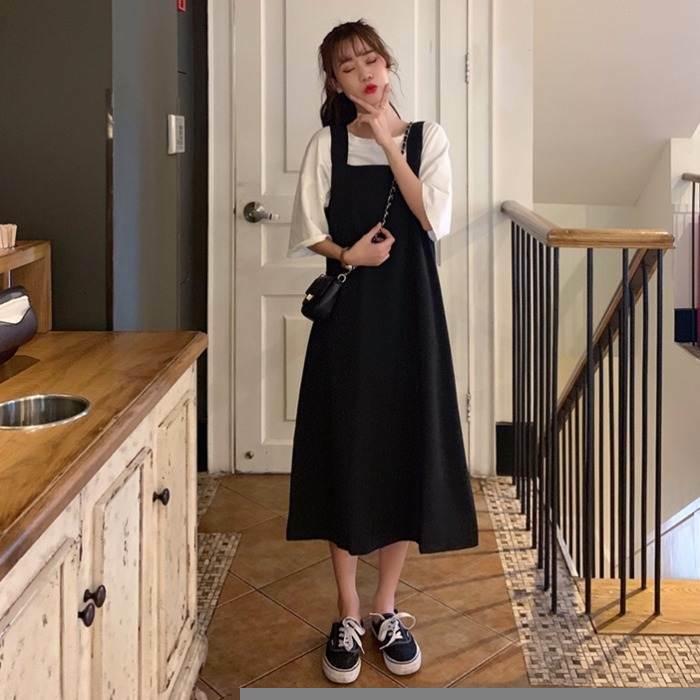【送料無料】楽カワなカジュアルコーデ ♡ ゆったり 可愛い ジャンパースカート ワンピース