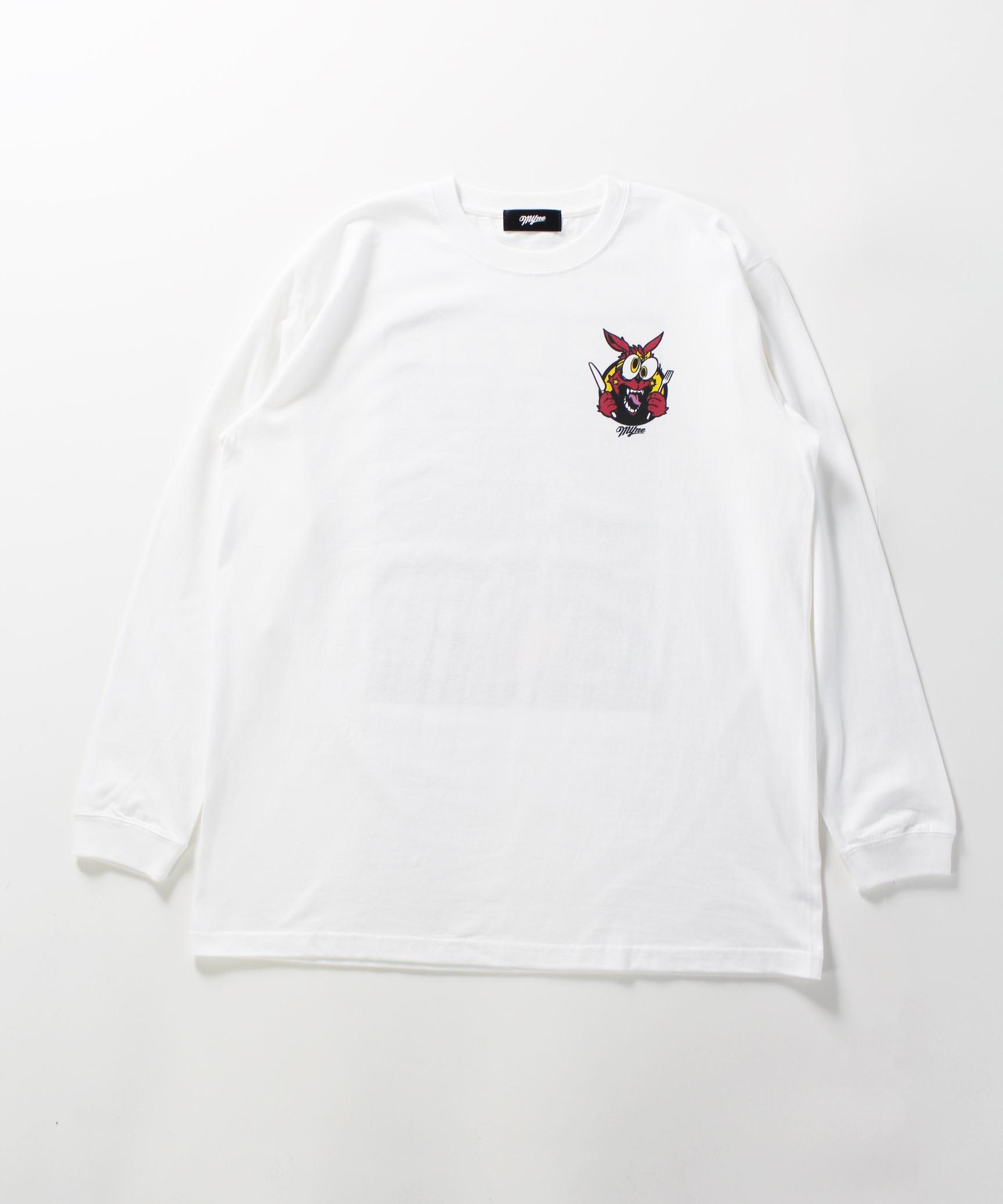 MYne CODEX 別注 L/S T-shirt / WHITE - 画像1
