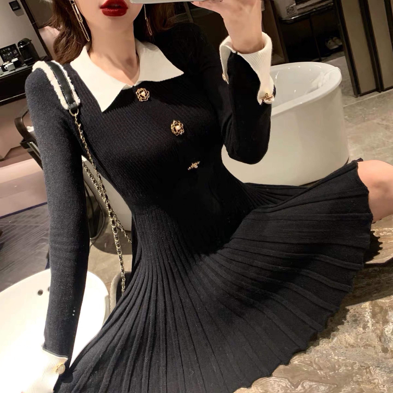 tight pleated dress
