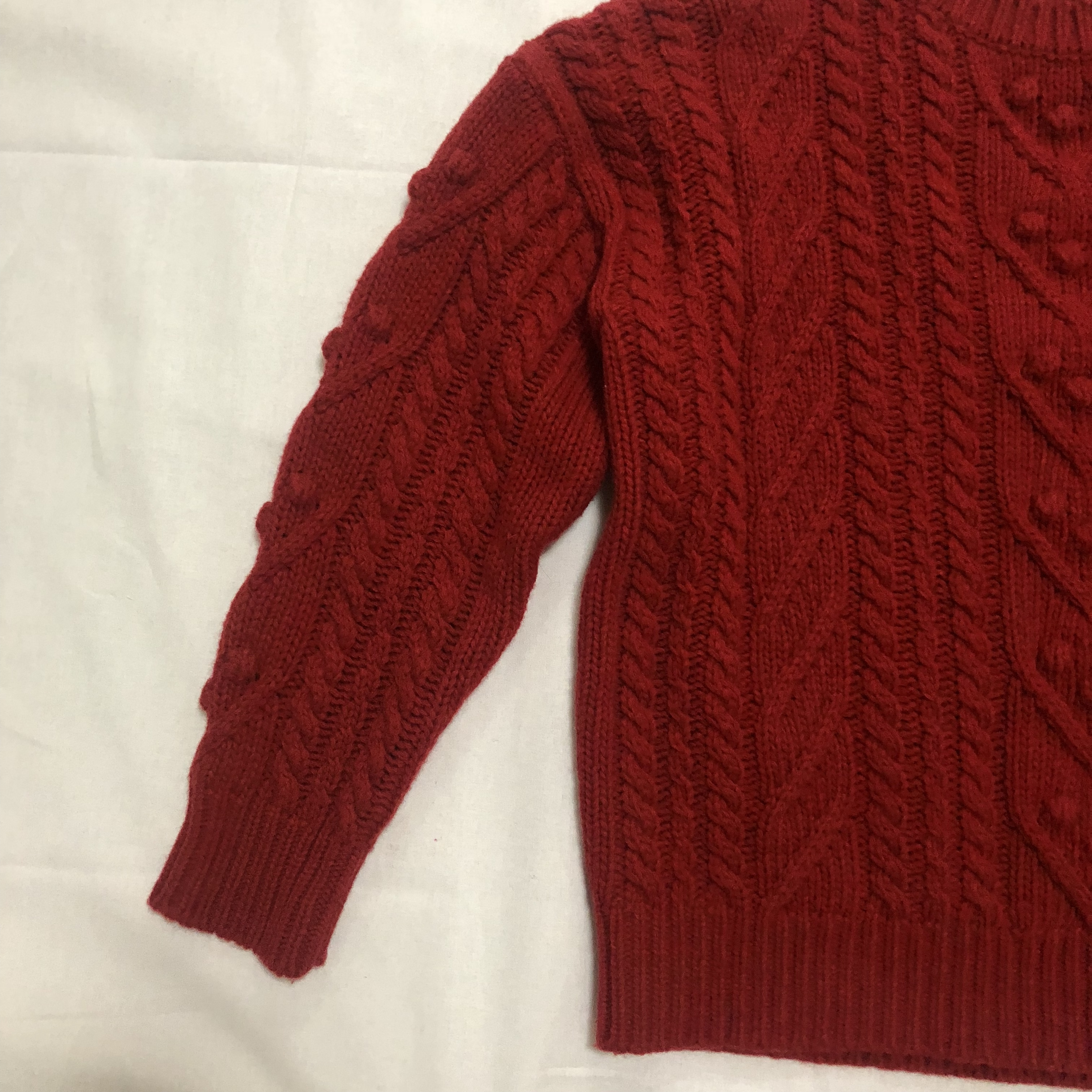cable knit cherry