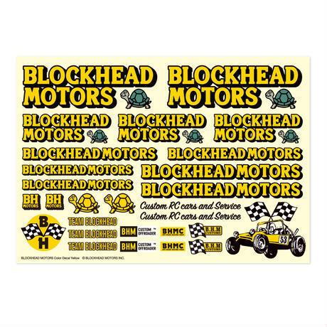 BLOCKHEAD MOTORS デカールシート イエロー
