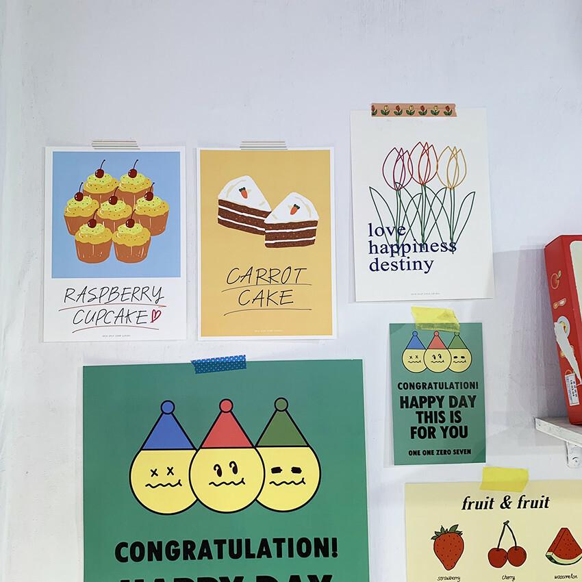 [OP-19] cake ポスターセット(4枚)