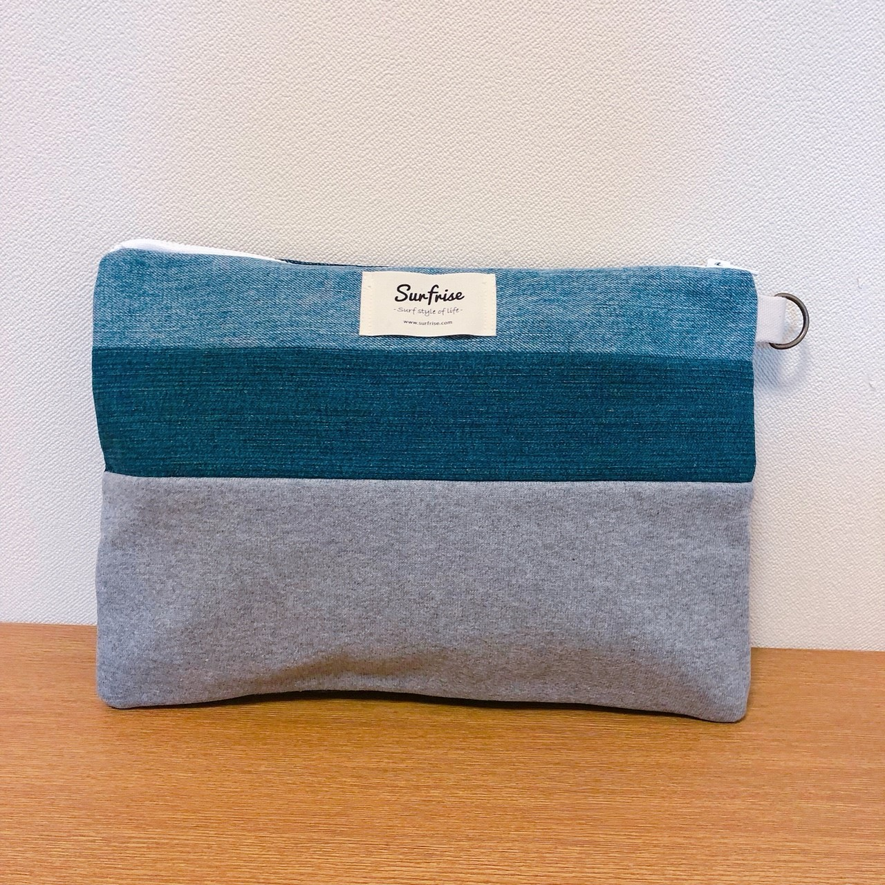 Denim clutch (Gray sweat) S115
