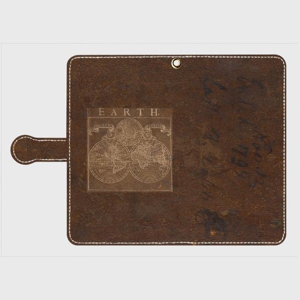 古地図(1700年代) / Androidスマホケース(手帳型ケース)