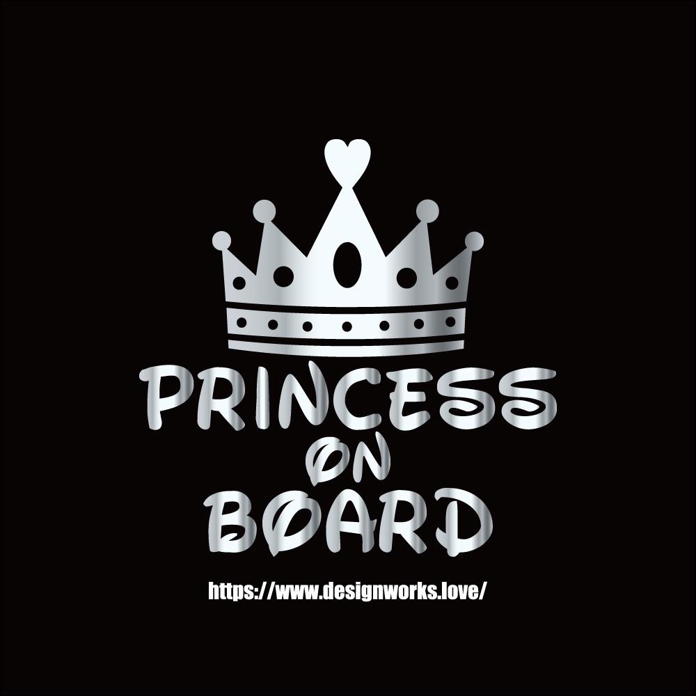 全10色 PRINCESS ON BOARD お姫様 プリンセス ステッカー