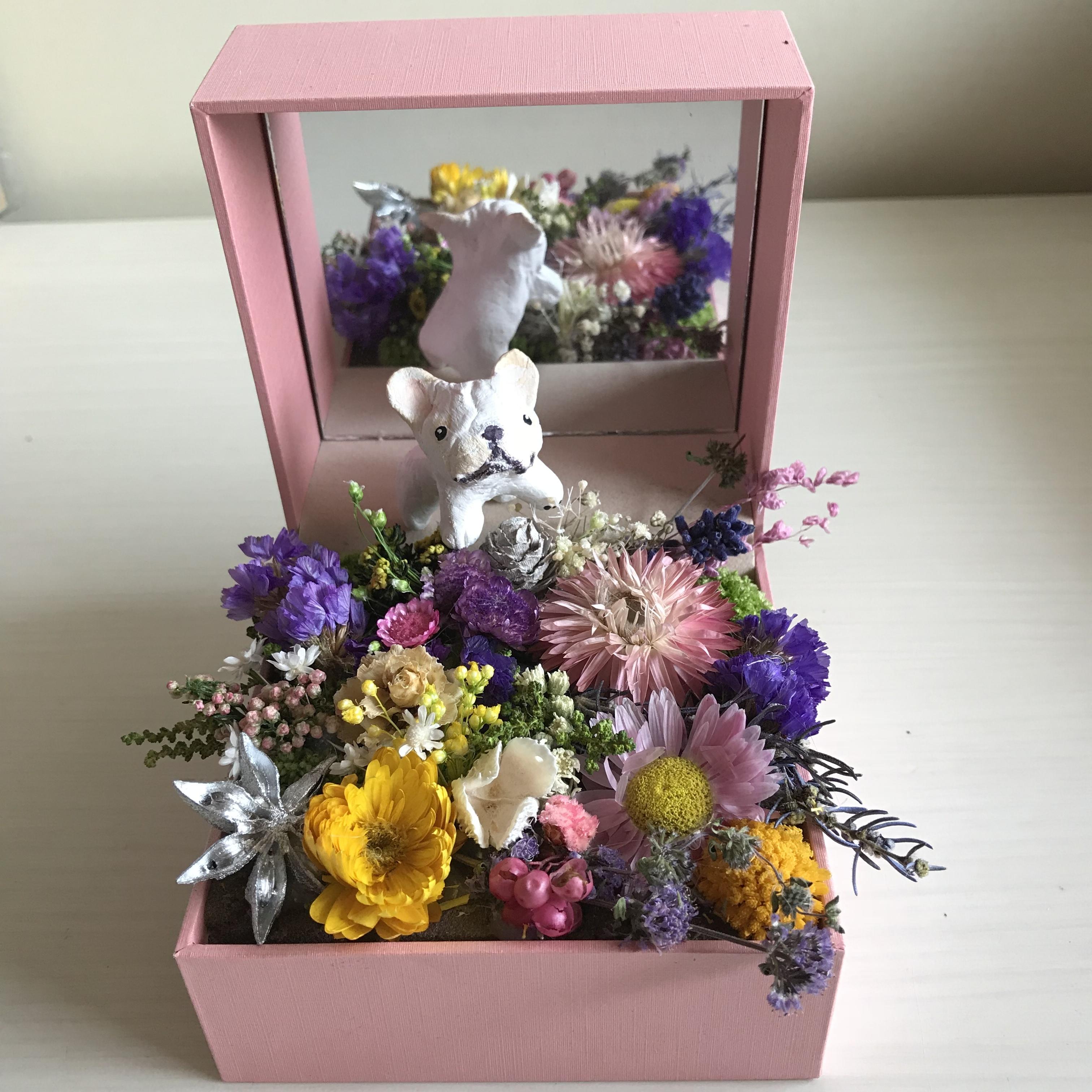 ジュエリーBOXのお花畑(BUHI選べます)クリーム(他の色はご相談ください)