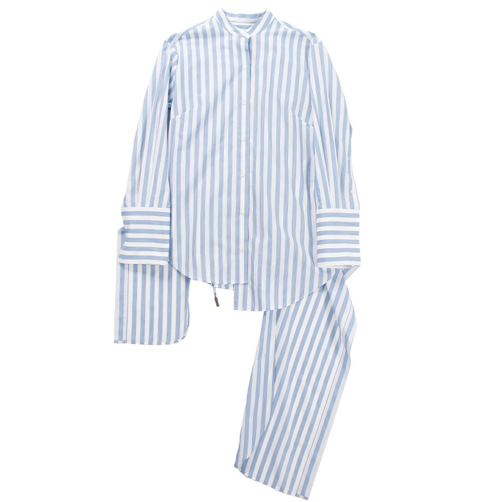 MONSE Stripe Colorless Shirt Blue
