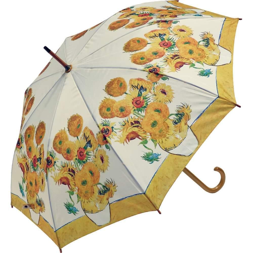 umbrella ゴッホ ひまわり   名画木製ジャンプ傘  浜松雑貨屋Copernicus