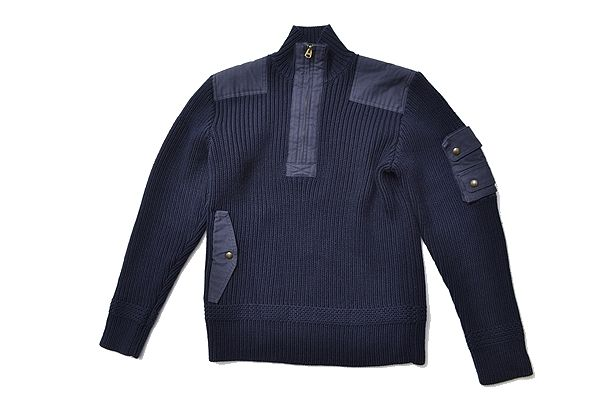 Ralph Lauren sizeL miritary sweater polo