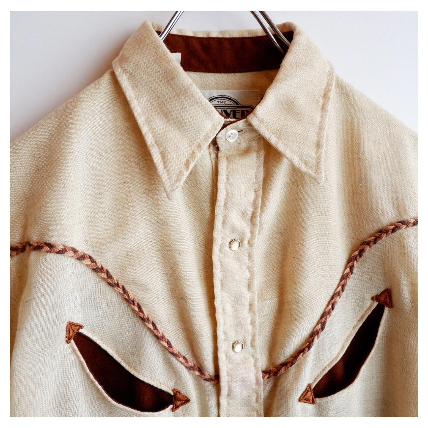 アメリカ古着 USA製 レーヨン ウエスタンシャツ