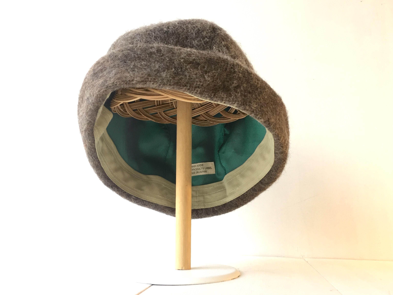 HELMA HAT | HINADORI WOOL BROWN【M】