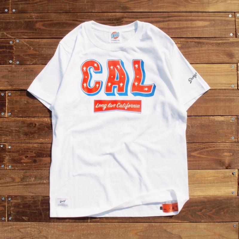 "【DARGO】""CAL"" T-shirt (WHITE)"