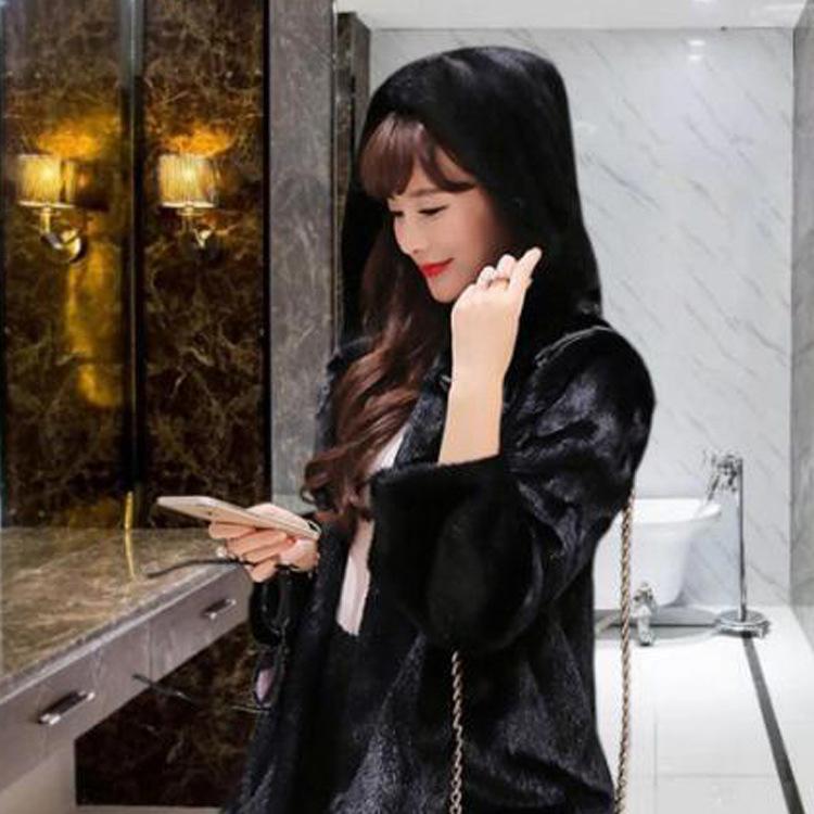 【アウター】ファッション無地シングルブレスト長袖フード付きコート14944508